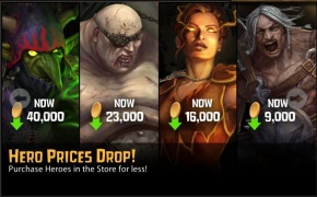 Wrath of Heroes - Hero Prices Drop